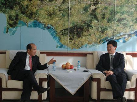 姚家凯会见韩国stx集团副会长李铭基-大连长兴岛经济