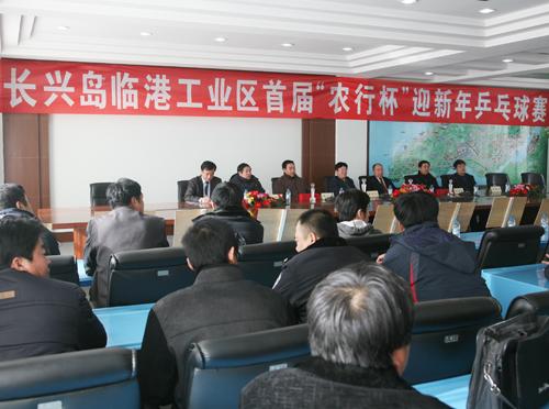 """我区举办首届""""农行杯""""迎新年乒乓球赛-大连长兴岛经济"""