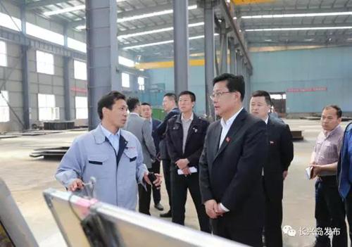 杨广志书记调研区内企业-大连长兴岛经济区